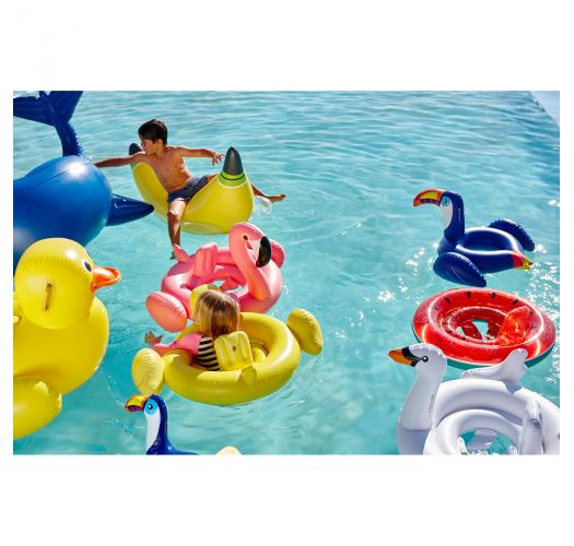 Inflatable banana-shaped float for adults and children over 6 yrs - LUXE BANANA