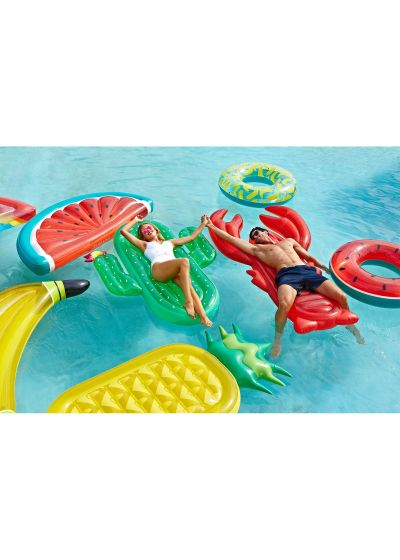 Lobster-shaped inflatable water toy for adults - LUXE LOBSTER