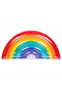 Farvestrålende regnbue-svømmemåtte- LUXE RAINBOW
