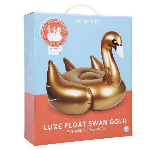 Bouée adulte forme cygne doré foncé - LUXE SWAN GOLD