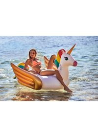 Unicorn-shaped inflatable water toy for adults with handles - LUXE UNICORN