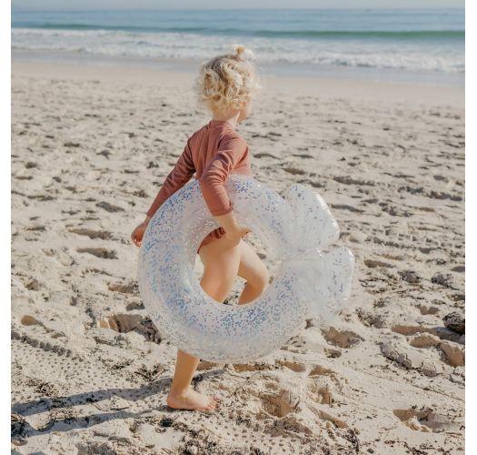 Seashell shaped children`s buoy with confetti - MINI FLOAT RING SHELL