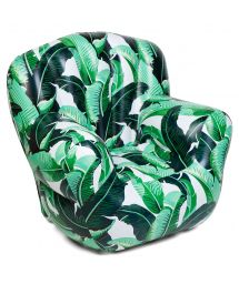Aufblasbarer Sessel mit Bananenblattmuster - RELAX BANANA PALM