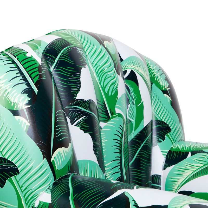 Inflatable armchair with banana leaf pattern - RELAX BANANA PALM