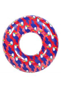 112cm round adult rubber ring with toucan pattern - RING TOUCAN