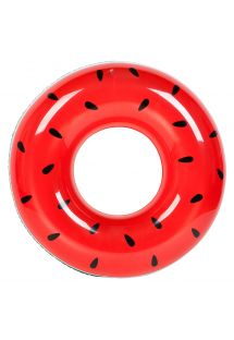 112cm round adult rubber ring with watermelon pattern - RING WATERMELON