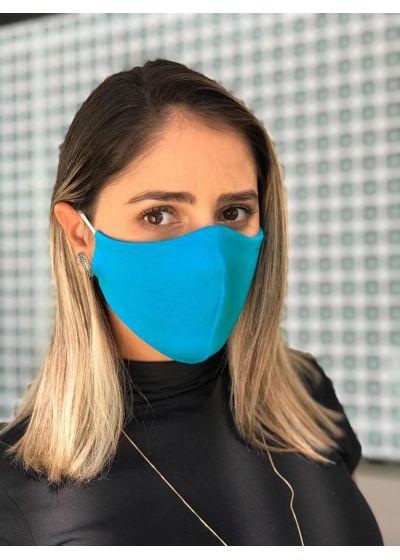 Tvättbar blå skyddsmask - FACE MASK BBS07