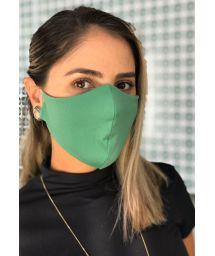 Washable green barrier mask - FACE MASK BBS08
