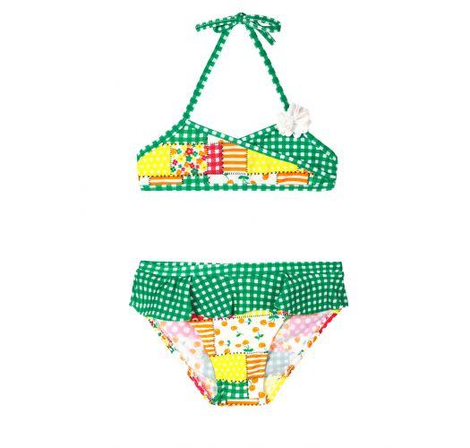 Dojčenské plavky Detské Dvojdielne Plavky - Patchwork Baby 899f029e46