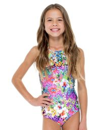Frilly print girl's one-piece swimsuit - GUAJIRA RUFFLE ONE PIECE