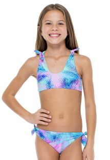 Girls&#39 reversible patterned bra bikini - PALMARES KNOT HALTER