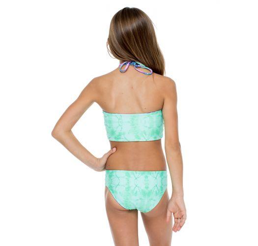 Girl&#39s reversible patterned crop top bikini - PALMARES TANKINI