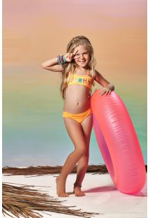 Little girls orange two-piece swimsuit - ALOHA CORAL
