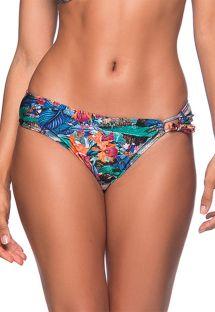 Einseitig geschnürte Bikinihose, Tropenprint - BOTTOM TQC TRANSPASSADO NORONHA FLORAL