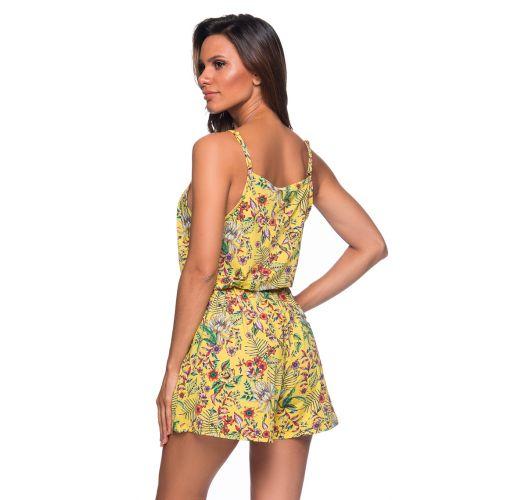 Mamuleco de playa amarillo estampado floral - MACAQUINHO DREAM AMARELA