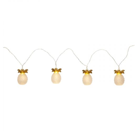 Cadena de luces LED con 10 piñas de color dorado 4m - PINEAPPLE STRING LIGHTS GOLD