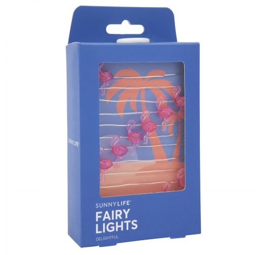 Lichterkette mit Rosaflamingos 3 m - FLAMINGO FAIRY LIGHTS