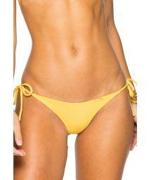 Side-tie scrunch yellow Brazilian bikini bottom - BOTTOM SEAMLESS BANANA COSTA DEL SOL