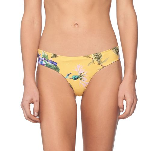 Gelbgrundig geblümte feste Bikinihose - BOTTOM MUSTARD FIELD BALEARIC PARAMOUNT