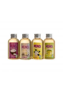 Travel set of 4 monoi oils - different scents - PACK MONOI TEVI 4X60ML