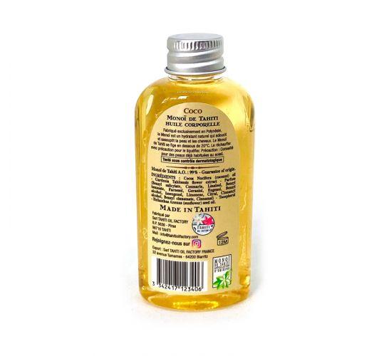 Aceite de esencia de monoi, aroma a coco, tamaño de viaje - Vahine Tahiti - Monoï coco - 60ml