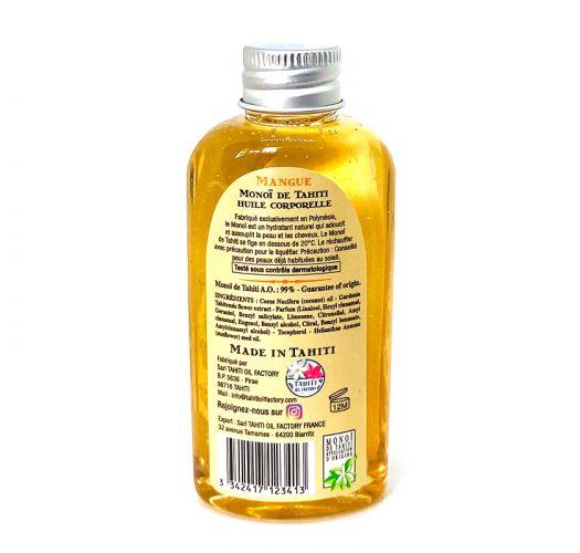 Aceite de esencia de mango, tamaño de viaje - Vahine Tahiti - Monoï mango - 60ml