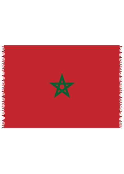 Pareo, Strandhandduk Nationsflagga Morocco