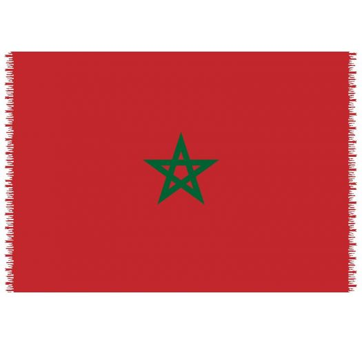 Brazilian beach towel - National flag Morocco