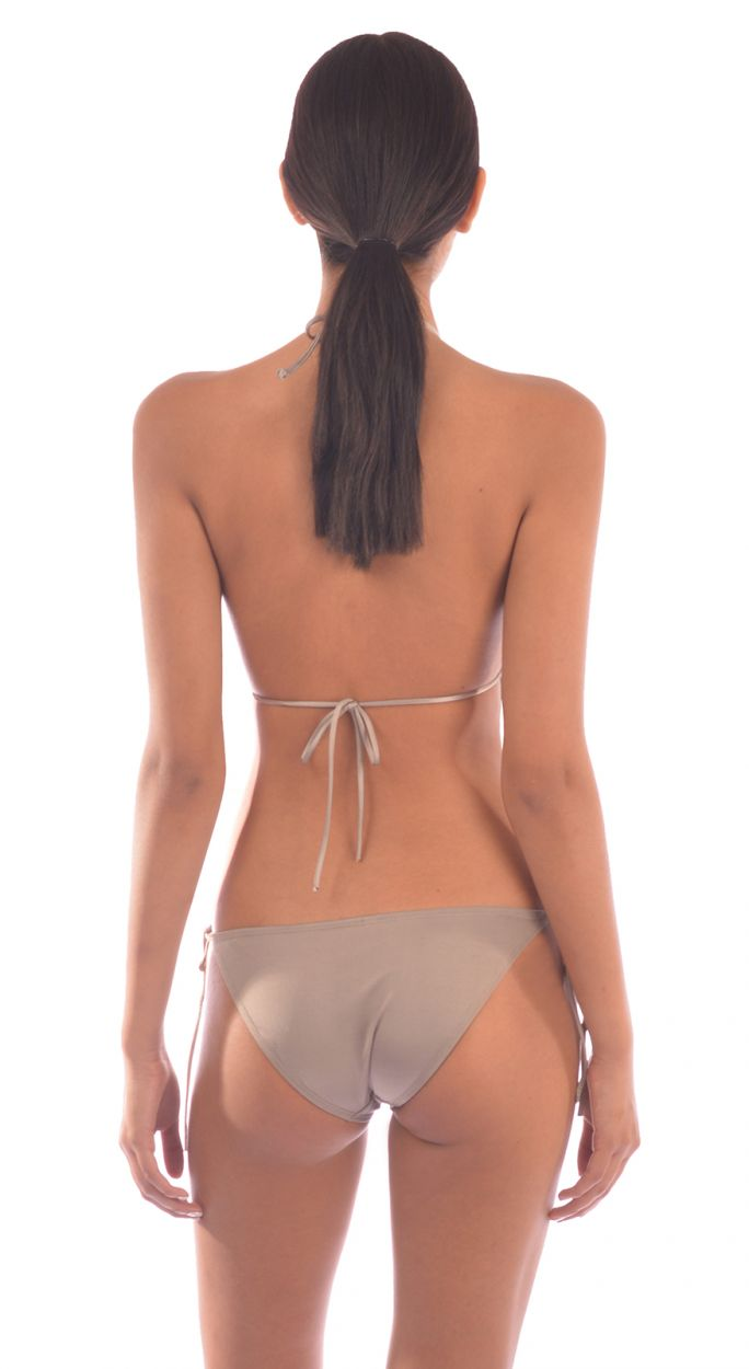 Luxurious beige one-piece swimsuit with openwork - MAIO RED SEDUCCTION