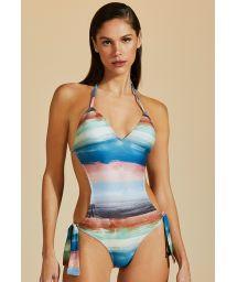 Colorful tied Brazilian monokini - MAIO IMPRESSIONISMO