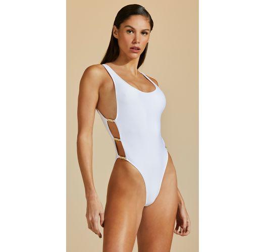 Luxurious 1 piece swimsuit with jewelry details - MAIO TUBO DE LINHA