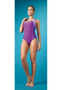 1 piece purple, racer back swimsuit - MAIO DEGRADE ROXO