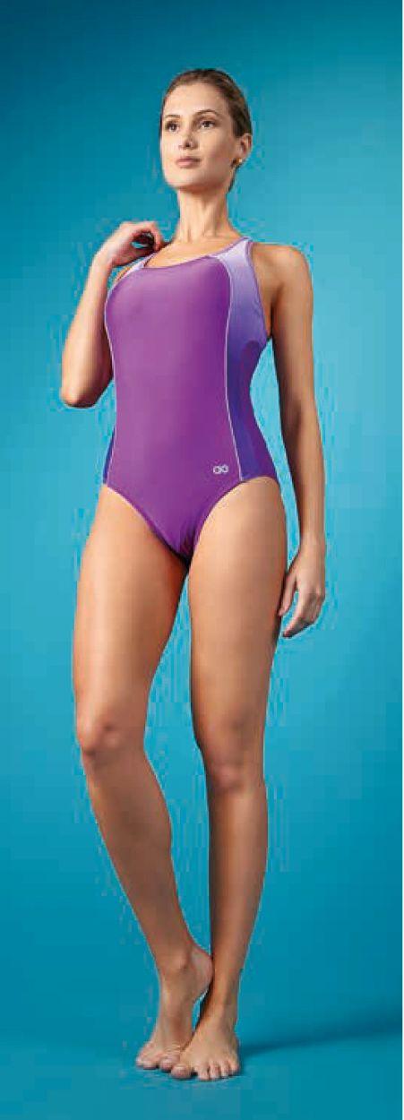 1 piece purple, racer back swimsuit - MAIO DEGRADE ROXO