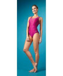 Maillot 1pièce natation rose, dos nageur - MAIO NADADOR PINK