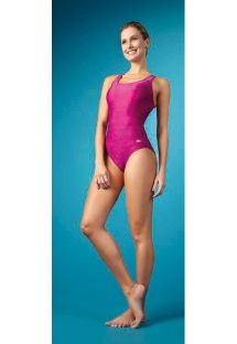 Pink one-piece swimsuit racerback - MAIO NADADOR PINK