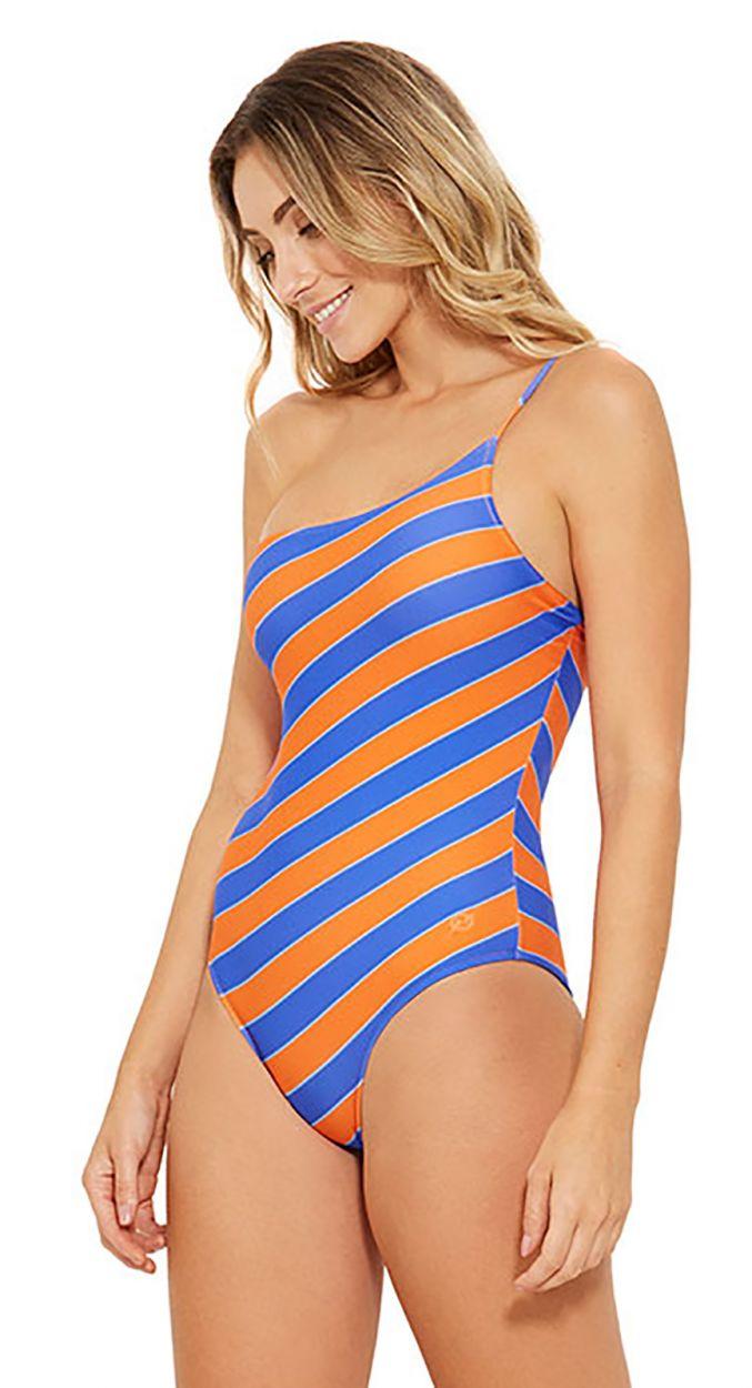 Blå och orange asymmetrisk hel baddräkt - ALBATROZ CAYENA