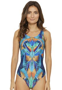 1-piece swimsuit in tropical multicolored print - CAMISETA NEW ARARUNA
