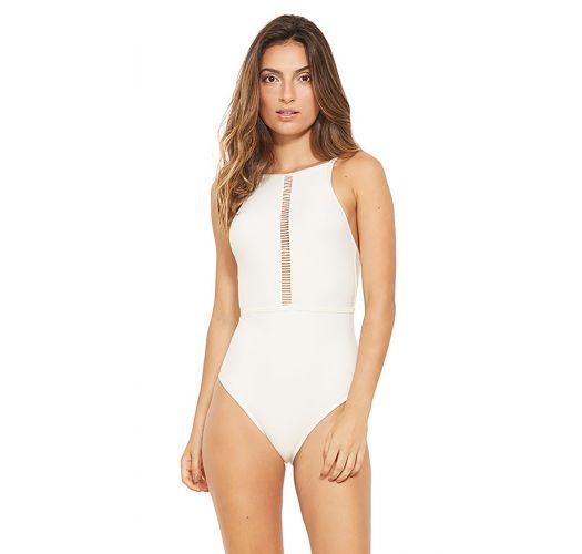 c1e79927b05 Ecru One-piece Swimsuit With A Strappy Neckline - Golf Branco Perola ...