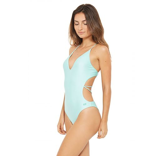 Light green swimsuit with laced back - ISLA VERDE FRAIS