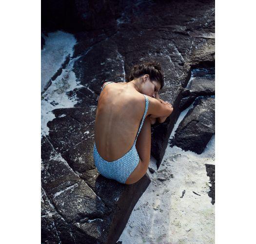 Hochgeschlossener Badeanzug in Mustermix - LIFE STYLE ARARUNA