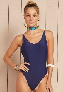Navy one-piece swimsuit with cut-out sides - MAIO AXE