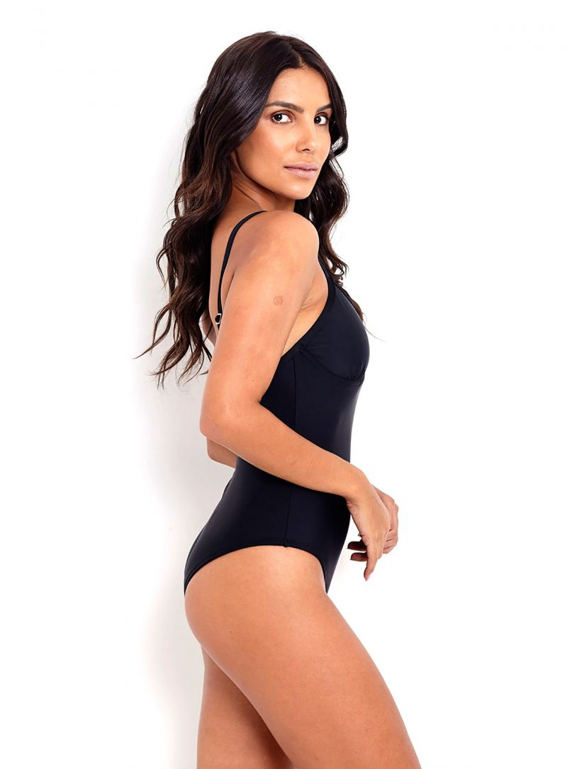 Black underwired one-piece swimsuit - MAIO DALHAS