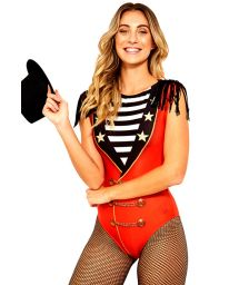 Circus style red one-piece swimsuit - MAIO DOMADORA CARNAVAL