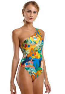 Patterned one-piece swimsuit with strappy back - MAIO SARDENHA CARTAGENA