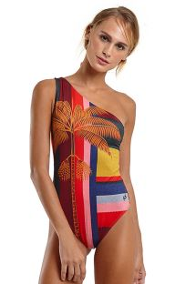 Asymmetric one-piece swimsuit with strappy back - MAIO SARDENHA MAMBO