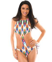 High neck trikini in a multicoloured print - MARAMBAIA UNIQUE
