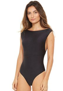 Reversible black / nude one-piece swimsuit - RIQUEZA PRETO