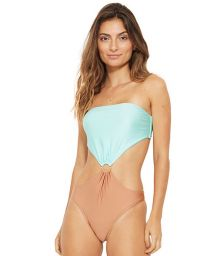 Blue and nude monokini - ROMANTICO ISLA
