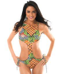 Unusual Brazilian trikini with high neckline - TRIBO UNIQUE