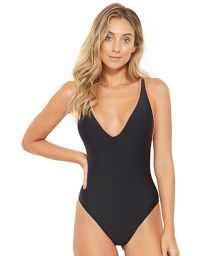 Black swimsuit crossed back with contracting borders - TRIP PRETO